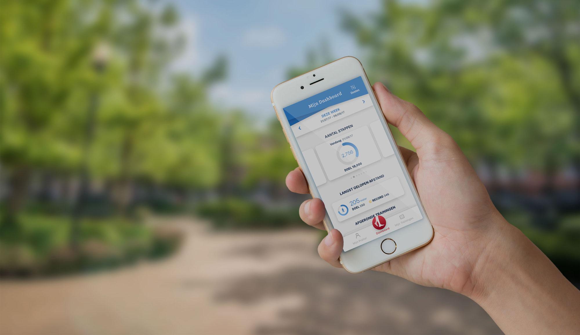 Mobiele mock-up Stappy applicatie